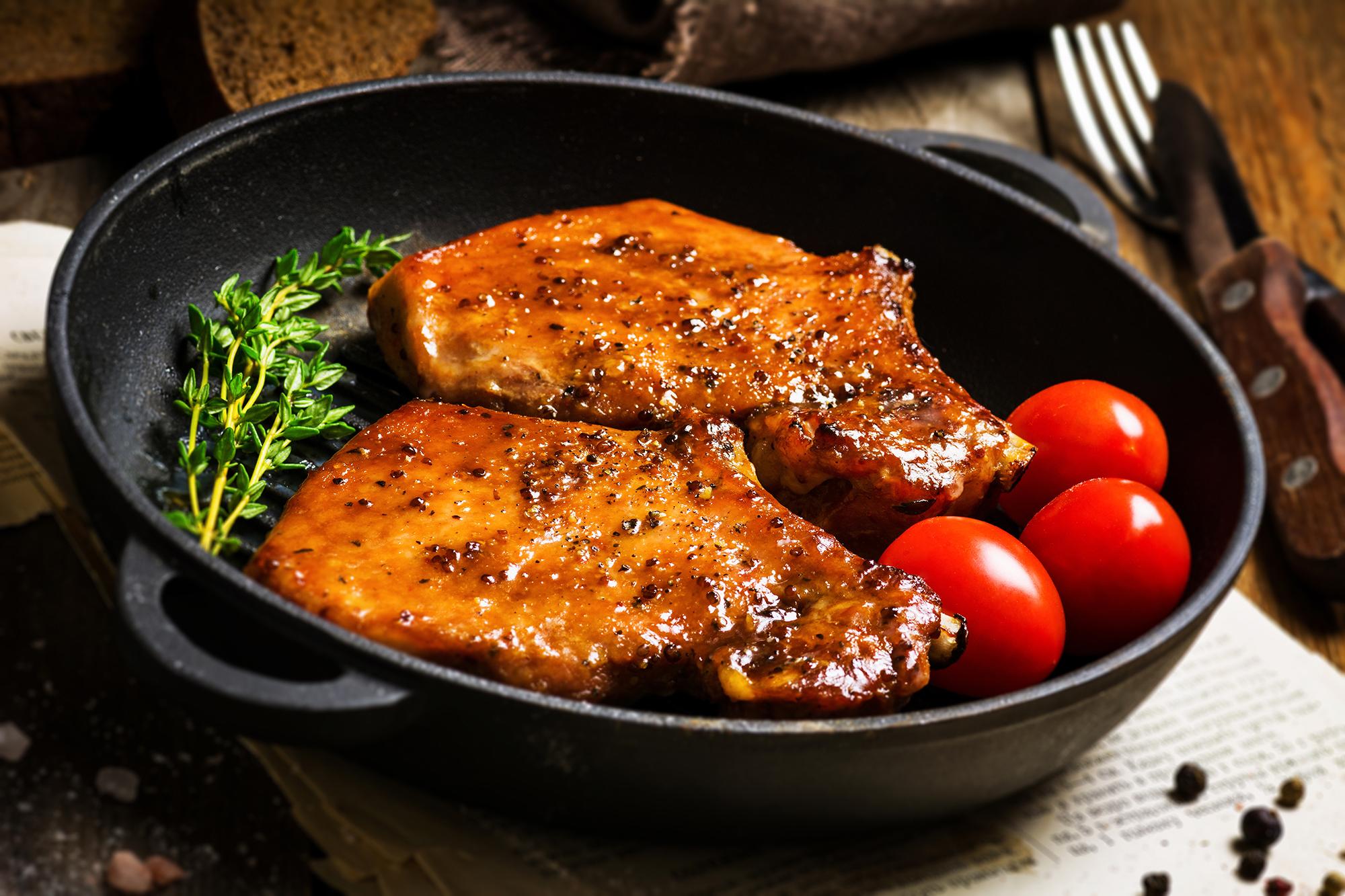 Sticky Pork Chops